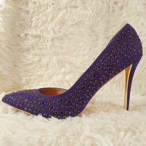 THALIA SODI Stiletto Purple Heels Shoes Size 10